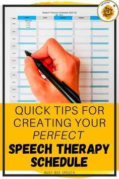 Here are a few tips to create a speech therapy schedule that works well for you. Plus, grab a free speech therapy schedule template to get you started!