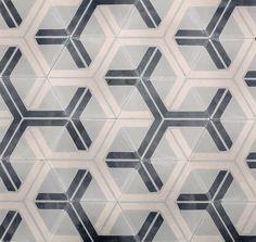 Hex Arrow - fog/oyster/milk - Collection. Cement tile.