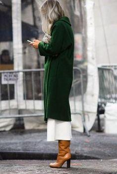 green cardigan. #fall street style.