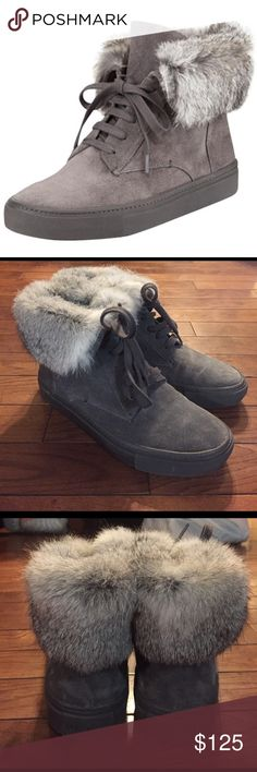 ✨SALE✨ • VINCE • fur boots FINAL SALE Gently worn VINCE fur boots. Worn twice. Excellent condition as seen in photos!! Size 6.5. Bundle & save 15%  Vince Shoes Ankle Boots & Booties