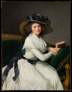 When this portrait was painted in 1789, the sitter, daughter of Louis XV's <i>premier valet de chambre</i>, was the wife of the comte de la Châtre. She later married François Arnail de Jaucourt. For daily wear and for portraits, Vigée Le Brun favored white muslin dresses in this style for what she saw as their timeless, classical simplicity