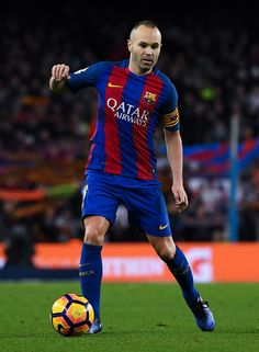 3c608ebaccf Andres Iniesta of FC Barcelona runs with the ball during the La Liga match  between FC