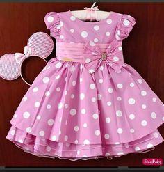 Vestido Frocks For Girls, Kids Frocks, Little Dresses, Little Girl Dresses, Girls Dresses, Summer Dresses, Toddler Dress, Toddler Outfits, Kids Outfits