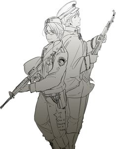 "Official Cold War art. <3 (""America and Russia, a wonderful update by Himaruya."")"
