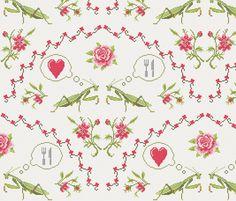 Top 10 Anti-Valentines Day Cross Stitch Designs (Spoonflower)