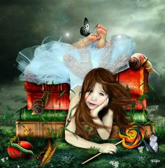 How to get your children to develop intelligence? Read them fairy tales. Read them more fairy tales. Develop their imagination. That is far greater than any knowledge. Fairy Land, Fairy Tales, Fairy Dust, Illustrations, Illustration Art, Gifs, World Of Books, I Love Books, Akita