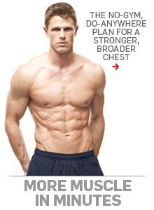 Build a stronger, broader chest with this no-weights-necessary plan you can do ANYWHERE.