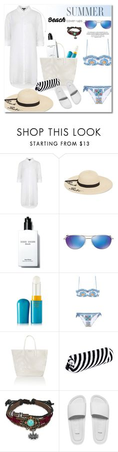 """""""Summer beach"""" by vkmd on Polyvore featuring Topshop, Betsey Johnson, Bobbi Brown Cosmetics, Maui Jim, Shiseido, Dolce&Gabbana, Seafolly, The Beach People, Bling Jewelry and Melissa"""