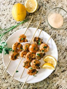 This is going to be your new favorite grilling recipe! Tender shrimp topped with lemon juice, melted butter, and a slightly spicy seasoning mixture and the grilled to perfection! Thank you to Safeway for sponsoring this post. Shrimp On The Barbie, Remoulade Sauce, Shrimp Skewers, Creole Seasoning, Grilled Shrimp, 30 Minute Meals, Melted Butter, Grilling Recipes, Tandoori Chicken