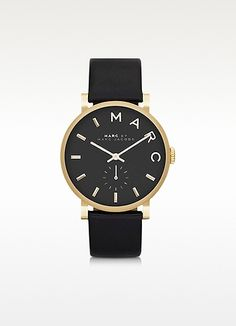 Marc by Marc Jacobs Baker Round Enamel Case Stainless Steel Women's Watch