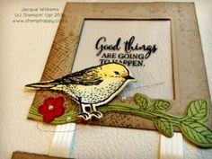stampin up best birds frame home decor vintage card