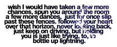 Bottle up lightning - Lady Antebellum