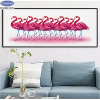 7f3a34a6af 5d diy diamond painting Flamingo animals 3d picture cross stitch 3d diamond  embroidery Game kits diamond