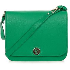 Furla Melody Emerald Green Messenger Bag (535 BRL) ❤ liked on Polyvore featuring bags, messenger bags, green, strap bag, leather bags, zipper bag, green bag and furla