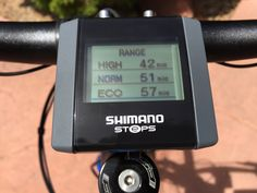Here's a closer look at the Shimano STePS display on the new Raleigh Bicycles Misceo iE. The display provides estimated range based on the battery level & the pedal assist level. Find out more in the full review of the Raleigh Misceo iE: http://electricbikereport.com/raleigh-misceo-ie-shimano-steps-review-2-video/