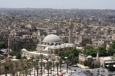 Square in front of Citadel Aleppo 2009