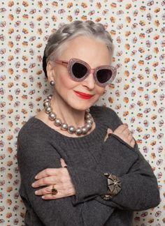 Joyce Carpati  in Karen Walker Eyewear Campaign . Silvia Lindberg 916637889c33c