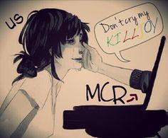 My Chemical Romance feels Emo Bands, Music Bands, My Chemical Romance, Band Memes, Mcr Memes, Black Parade, Killjoys, Panic! At The Disco, Gerard Way