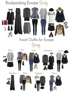 Backpacking in Europe in Spring - We emphasize warmth since the weather is so variable–so check the forecast before you go and plan for layers!