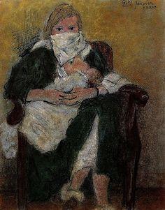 1936 Mère et enfant (Marie-Thérèse Walter emmitouffle Maya) Pablo Picasso  http://zaidan.ca/Art_Gallery/Picasso/Pablo-Picasso.htm