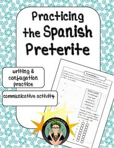 Spanish Preterite Tense Practice: Partner Communicative Activity, Writing, Verb Conjugation Practice, Regular or Irregular Verbs!A fun activity in which students are prompted to write complete sentences using the Preterite Tense. Students write Chispes (gossip, in this case about celebrities) and then share it with a partner!