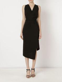 Andrea Marques asymmetric hem midi dress