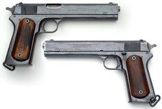Pistola Colt Modelo 1902 mejillas lisas de madera Militares del mango (click en…