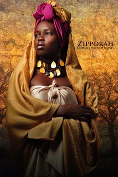 """Zipporah: Noir Bible"" by International photographer James C. Icons of the Bible series Blacks In The Bible, Orishas Yoruba, Art Beauté, Estilo Tribal, African Mythology, Afro, Afrique Art, Black Royalty, Black Jesus"