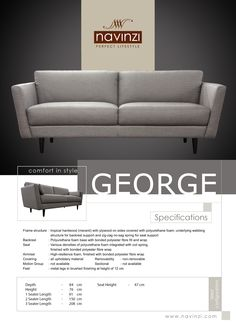 Navinzi George Sofa from Hommage Outdoor Sofa, Outdoor Furniture, Outdoor Decor, Seat Foam, Polyurethane Foam, Bed Sheets, Duvet Covers, Hardwood, It Is Finished