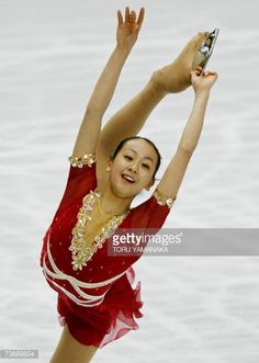 Tokyo, JAPAN: Japanese skater Mao Asada performs during the free skating of women's event in the World Figure Skating Championships in Tokyo, 24 March 2007. Asada won the silver medal in the event. AFP PHOTO/Toru YAMANAKA (Photo credit should read TORU YAMANAKA/AFP/Getty Images)