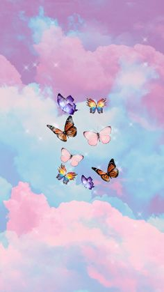 Butterfly Wallpaper Iphone, Cartoon Wallpaper Iphone, Iphone Wallpaper Tumblr Aesthetic, Cute Cartoon Wallpapers, Aesthetic Wallpapers, Ed Wallpaper, Iphone Background Wallpaper, Cute Wallpaper Backgrounds, Pretty Wallpapers