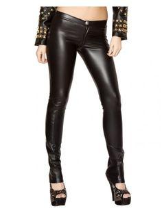 Black Leatherette Skinny Pants