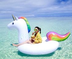 63.92$  Watch here - http://ali1hw.shopchina.info/go.php?t=32712479124 - Inflatable floating row Pool toys Swim ring Ride-on board plate Giant 275cm unicorn 190cm flamingo swan raft  With electric pump 63.92$ #shopstyle