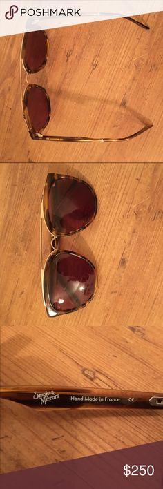 Smoke x Mirrors Volunteer Aviators Tortoise shell smoke and mirrors sunglasses.  Retail for $295 new condition Barneys New York Accessories Sunglasses