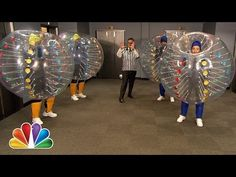 ▶ Bubble Soccer with Colin Farrell, Chris Pratt and Frank Knuckles (Late Night with Jimmy Fallon) - YouTube