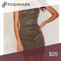 NWT Nastygal Gold Dress Label is Rare London, sold at Nastygal. US 2 or US 4 Nasty Gal Dresses
