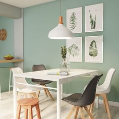 Home Office Design, Home Office Decor, House Design, Home Living Room, Living Room Designs, Living Room Decor, Small Home Office Furniture, Mint Rooms, Paint Colors For Living Room