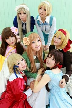 The girls of APH cosplay -- This is an awesome group Picture, if only Vietnam wasn't missing.