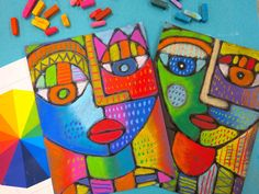 In the Art Room: Sandra Silberzweig Selfies with Third Grade | Cassie Stephens | Bloglovin'