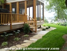 I love this large stone edging! It was designed and installed by Sargent's Nursery.
