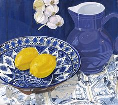 'Lemons' by Jane Dunn Borresen . New print available on - http://fineartamerica.com/featured/lemons-jane-dunn-borresen.html  Acrylic Print $90