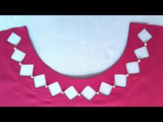 "Latest summer Neck design cutting and stitching by ""Fizza Mir"" - YouTube Kurti Back Neck Designs, Chudithar Neck Designs, Kurta Neck Design, Neck Designs For Suits, Sleeves Designs For Dresses, Neckline Designs, Stylish Dress Designs, Fancy Blouse Designs, Blouse Neck Designs"