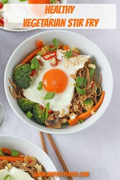 This healthy vegetarian noodle stir fry is a delicious bowl of comfort food, perfect to serve up after a long day at school or work. Packed full of veggies, it makes a really nutritious family dinner! Veggie Noodle Stir Fry, Veggie Noodles, Midweek Meals, Healthy Family Meals, Dinner Healthy, Healthy Kids, Healthy Eating, Vegetarian Stir Fry, Vegetarian Recipes