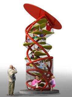 Modern Playground, Playground Games, Playground Design, Kids Indoor Play Area, Rube Goldberg Machine, Kindergarten Design, Bird Artwork, Exhibition Display, Kid Spaces