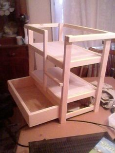 bunk bed with drawer for american girl dolls by crrconstruction1, $45.00