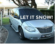 SnowOFF Car Windshield Snow Ice Cover - Sun Shade Protector - WINDPROOF Straps Snow And Ice, Car Covers, Let It Snow, Sun Shade, Van, Truck, Umbrellas Parasols, Trucks, Vans