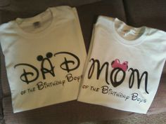 Mickey mouse 1st Birthday parent t-shirts