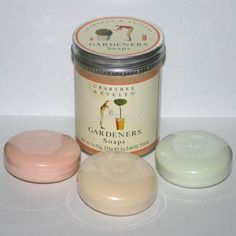 Crabtree & Evelyn Gardeners Hand Soaps Soap Bars Carrot Cucumber Lettuce Scented - don't like the chemicals but smells great!