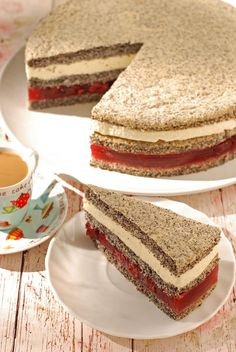 Meggyes-mascarponés máktorta recept - Kifőztük, online gasztromagazin Summer Cookies, Easter Cookies, Valentine Cookies, Birthday Cookies, Christmas Cookies, Cookie Recipes, Dessert Recipes, Hungarian Recipes, Healthy Cake