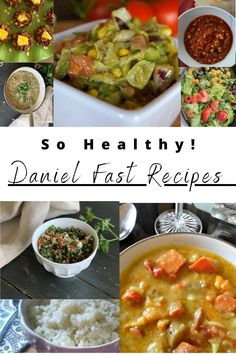 It's hard to believe these dishes that are so healthy could be so delicious! Have you tried the Daniel Fast yet? Low Calorie Recipes, Healthy Dinner Recipes, Keto Recipes, Vegetarian Recipes, Daniel Fast Recipes, My Best Recipe, Vegan Dinners, Good Food, Ethnic Recipes